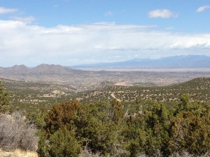 The view along the Turquoise trail to the Sangre de Cristo beyond Santa Fe
