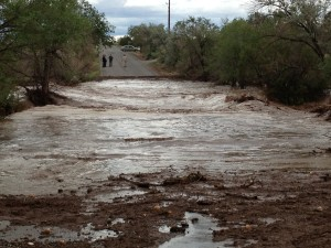 ...some of which ended up here. This was our road, washed out by the biggest flash flood in decades