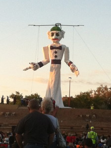 ...who looks pretty freaky when he's not on fire. (burning Zozobra kicks off Fiestas de Santa Fe since 1920's)