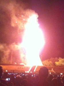 Santa Fe's even got our own burning man, 5 stories tall